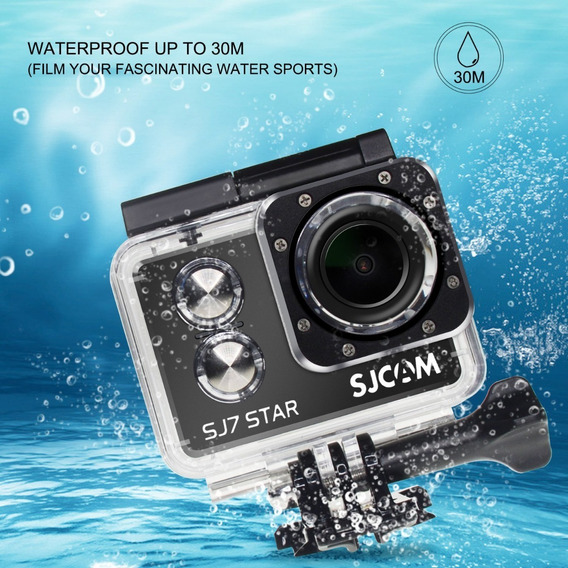 Câmera Original Filmadora 4k Wifi Sjcam Sj7 Star Preto
