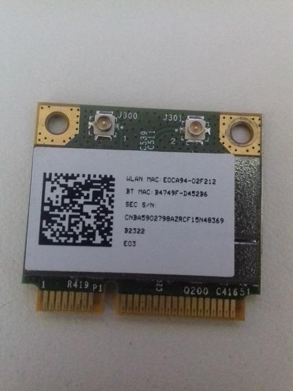 Placa Rede Mini Pci-e Wireless E Bluetooth Usada Negociável