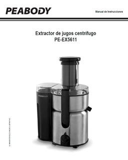 Juguera Peabody Extractor De Jugos Centrífuga Pe-ex5611