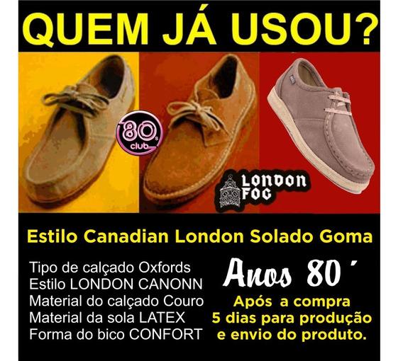 Sapato Estilo Canadian Solado Goma Couro Camurça