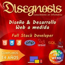 Diseño De Sitios / Páginas Web + Hosting Gratis Por 1 Año!!!