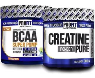Bcaa Em Pó Super Pump Powder + Creatina Pure 300g - Profit