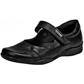 Zapatos Casual Flats Hush Puppies Dama Piel Negro T45522 Dtt