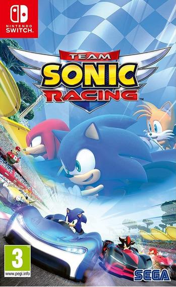 Mídia Física Team Sonic Racing Switch - Lacrado De Fábrica!
