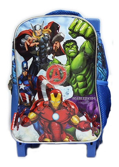 Mochila Espalda Carro Avengers 12 Pulgadas Scarletkids