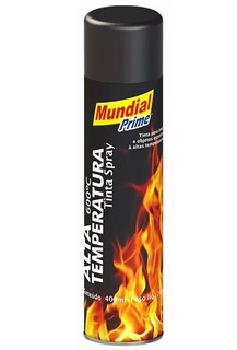 Tinta Spray Alta Temperatura Preto Fosco 400 Ml