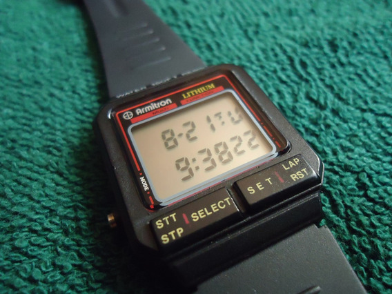 Armitron Reloj Digital Vintage Retro Dual Time