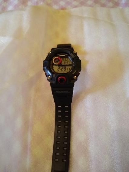 Relógio De Pulso Militar Vermelho Skmei