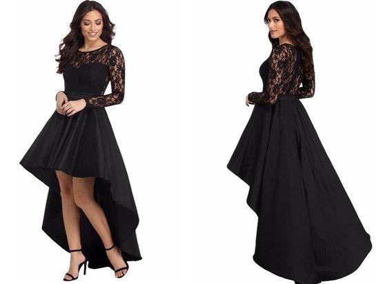 Vestido Largo Negro Fiesta - Gala - Elbauldecorina 0101204