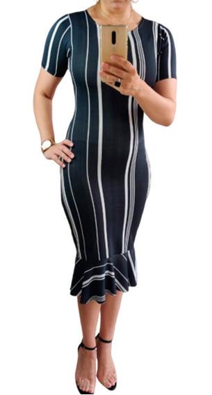 Vestido Feminino Midi Evangélico Tubinho Suplex Barato