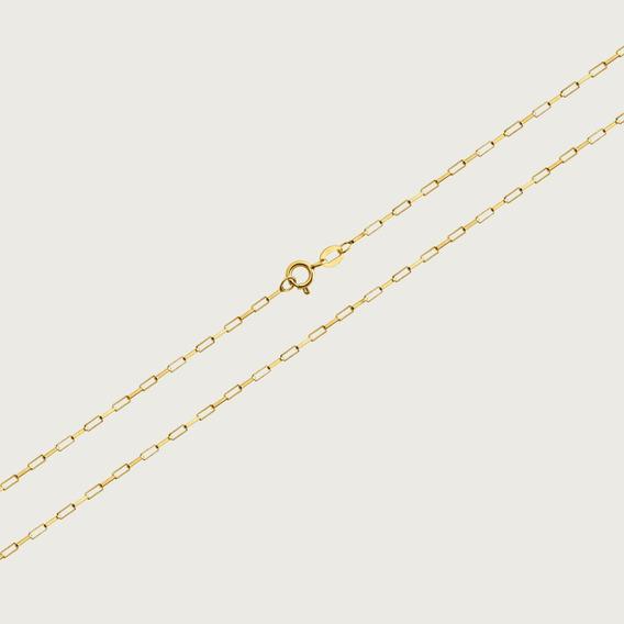 Cordão Cadeado Em Ouro 18k Com 45cm - 1,5gr