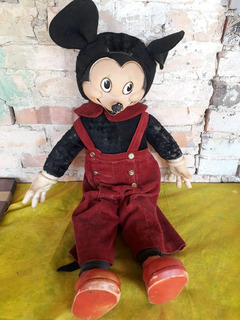 Boneco Mickey Antigo Disney Com 85 Cm Estrela Original