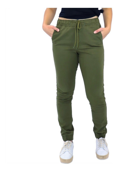 Kit 2 Calça Jeans Feminia Jogger Cos Elastico Camuflada