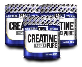 3x Creatina Mono-hidratada Pura 150g - Profit Labs