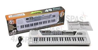 Organo Musical 49 Teclas Teclado Microfono Con Fuente