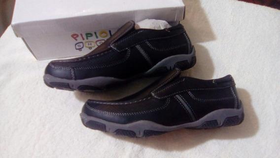 Zapato Colegial Escolar Niño Talla 35 Tipo Colegial