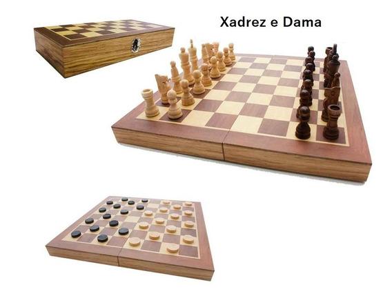 Jogo De Xadrez Em Madeira Game Premium