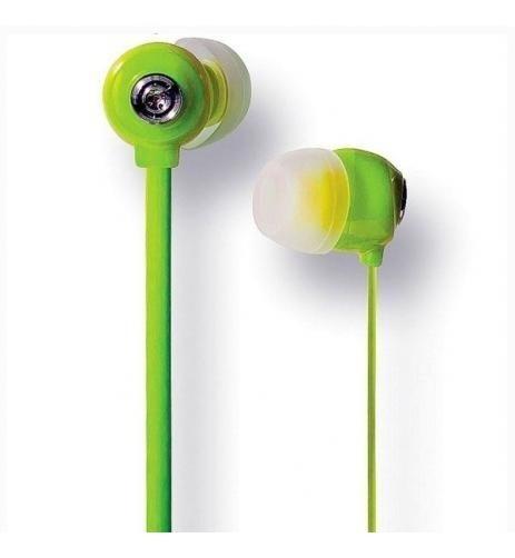 Kit 10 Pçs Fone De Ouvido Verde Intra- Auricular