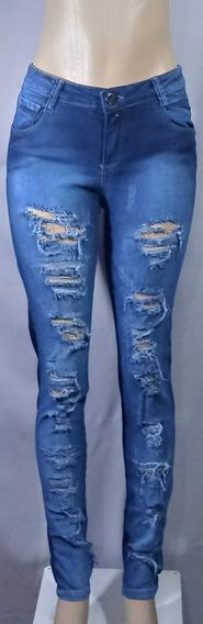 Calça Jeans Feminina Com Puidosm05!!! Nova