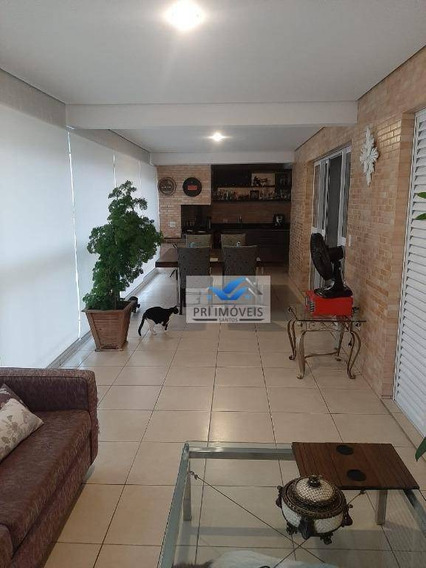 Apartamento Com 3 Dormitórios À Venda, 143 M² Por R$ 1.330.000 - Gonzaga - Santos/sp - Ap1236