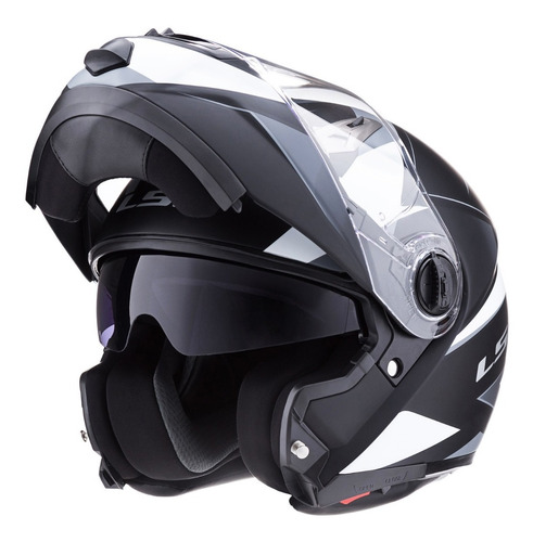 Casco Moto Ls2 370 Easy Stripe Rebatible Mate Devotobikes