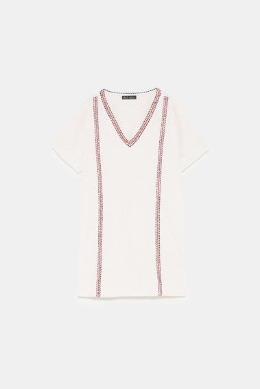 Vestido Z.a.r.a. Tweed Algodon Corto