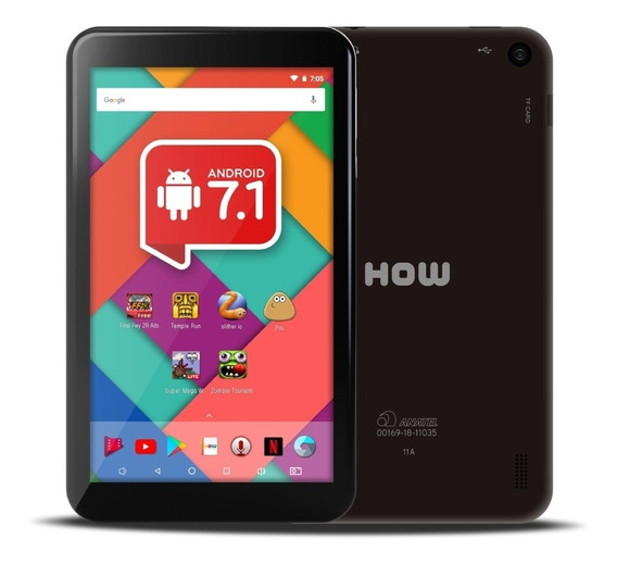 Tablet Wi-fi How Ht-705 8gb, Quadcore, 1gb Ram, Android 7.1