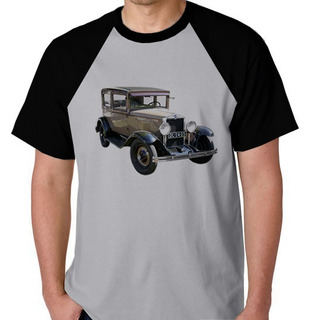 Camiseta Raglan Blusa Camisa Carro Antigo T Ford Raridade
