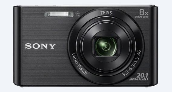 Camera Digital Sony Dsc W830 Preta 20.1mp 8x
