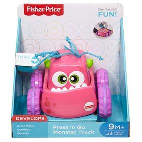Brinquedos Bebê Carrinho Monstrinho Aperta Anda Fisher Price