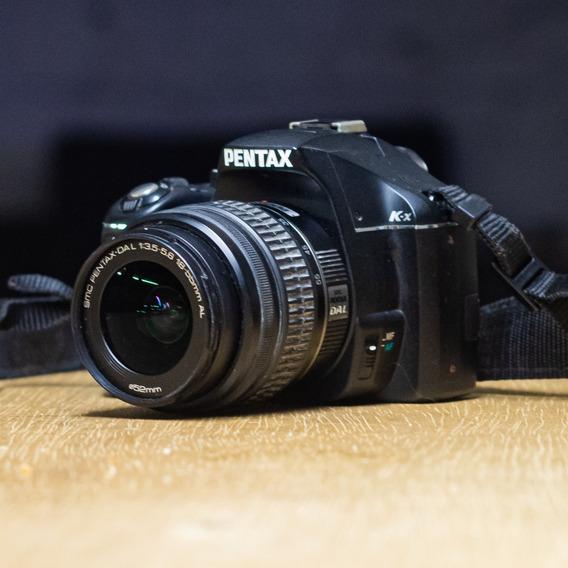 Pentax K-x Com Lentes 18-55mm F/3.5-5.6 E 50mm F/1.4