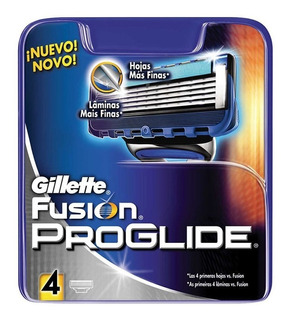Cartuchos Prestobarba Gillette Fusion X 4