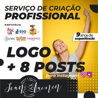 Sua Marca Online! Criação De Logo E 8 Postagens P/ Instagram