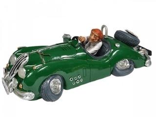 Caricatura Carro Corrida Rally Retro Vintage Carro Verde