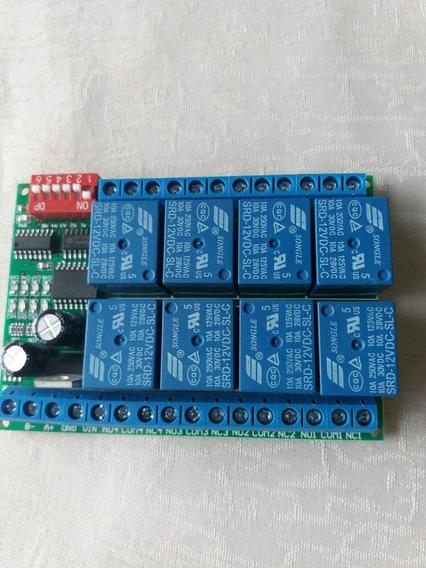 1 Pc 8ch Dc 12v=interuptor De Relê Rs485 Cpl Lampada Led Ptz