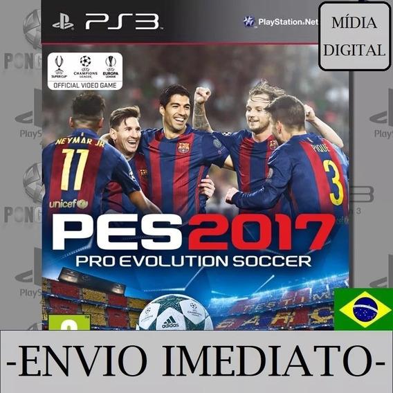 Pes 2017 Ps3 Psn Mídia Digital Pro Evolution Envio Imediato