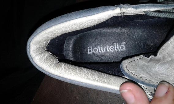 Zapatilla Batistella Cuero Azul 39