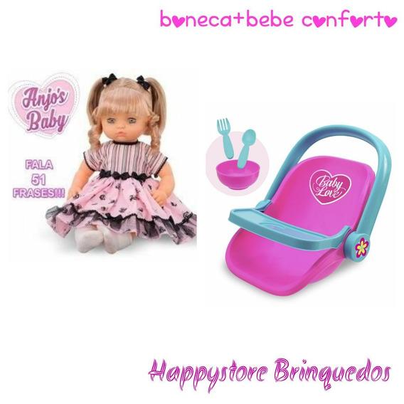 Boneca Anjos Baby Loira + Carrinho Usual Brinquedos Oferta