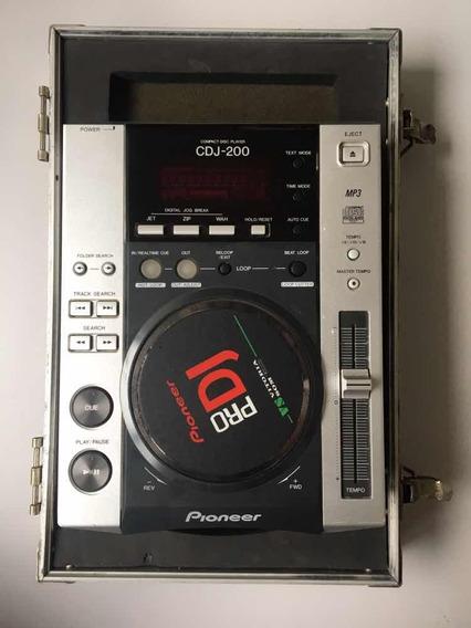 1 Unidade De Cdj 200 Pioneer Com Hard-case