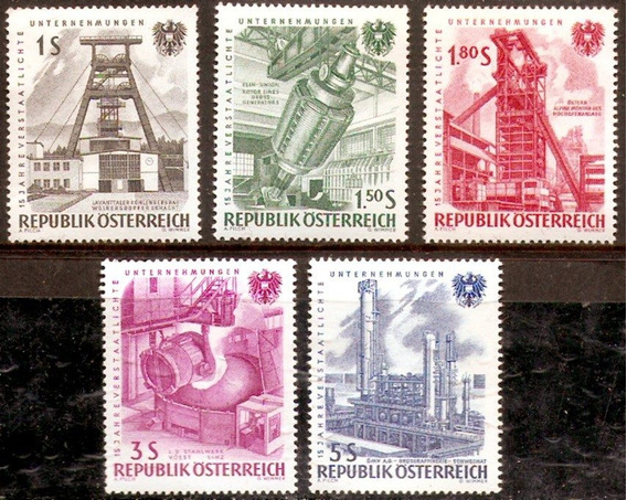 Minería - Austria 1961 - Serie Compl 932/6 - Nacionalización