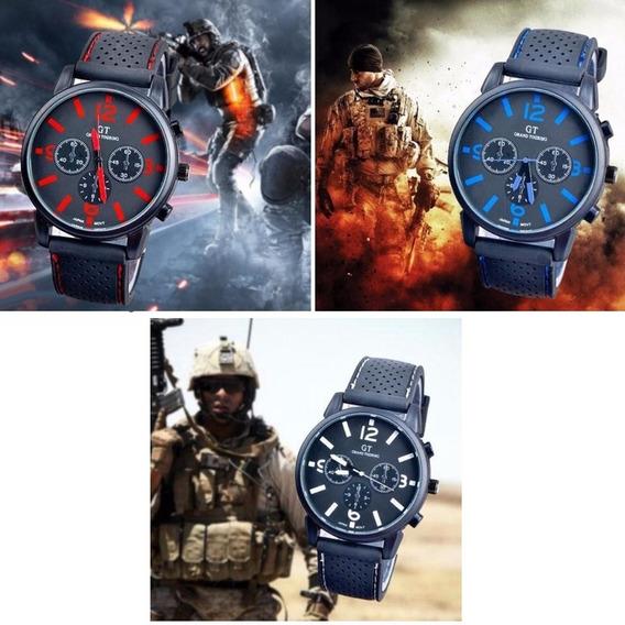 Relógio Masculino Gt Militar Exército Esporte Analógico