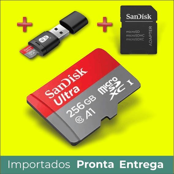 Micro Sd Card 256 Cartão Sandisk Ultra 256gb A1 4k No Brasil