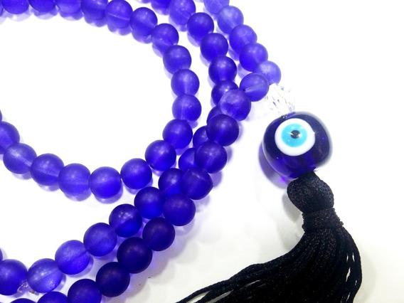 Japamala Comprido Hoponopono Meditação 108muranos Olho Grego