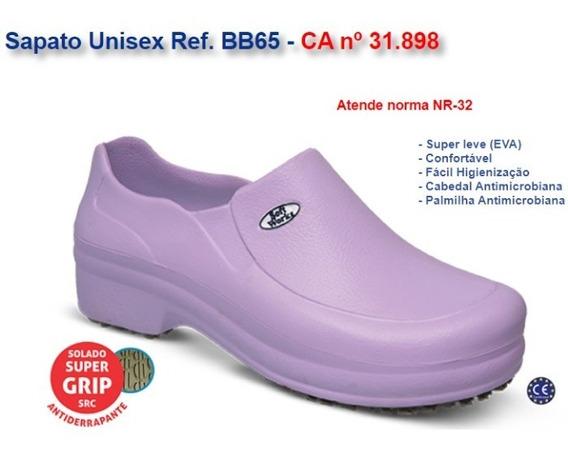 Sapato Eva Bb65 Lilás Limpeza Cozinha Enfermagem Soft Works