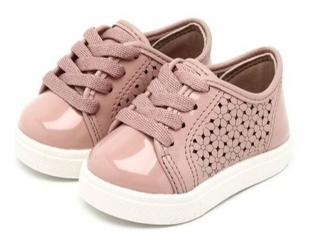 Tênis Molekinha Baby Para Menina 2118112 Rosa