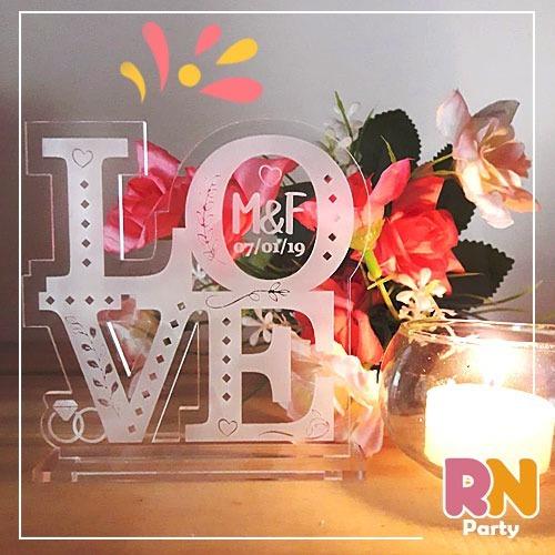 12 Souvenirs Casamiento Love Acrilico Grabado