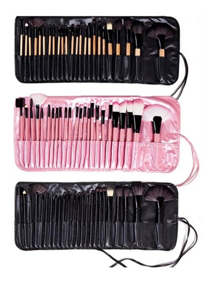 Kit Set 24 Brochas Pinceles Profesional Make Up, Estuche
