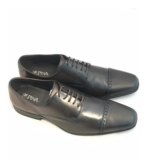 Sapato Couro Sintético Napa Preto Solado De Borracha Masculi