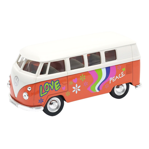 Kit 03 Carros Miniaturas 1:34 Vw Kombi Love Welly