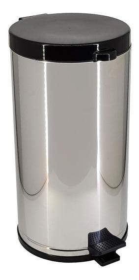 Lixeira Aço Inox Com Pedal E Recipiente Plástico 15 L